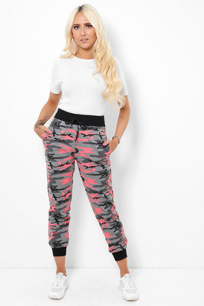 Neon Pink Camouflage Joggers