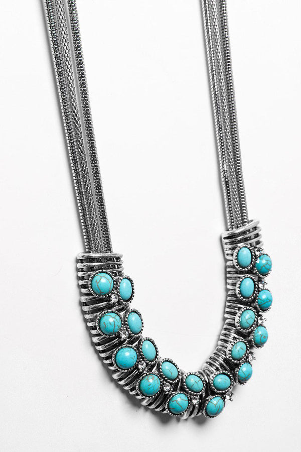 Turquoise Multi-Chain Necklace-SinglePrice