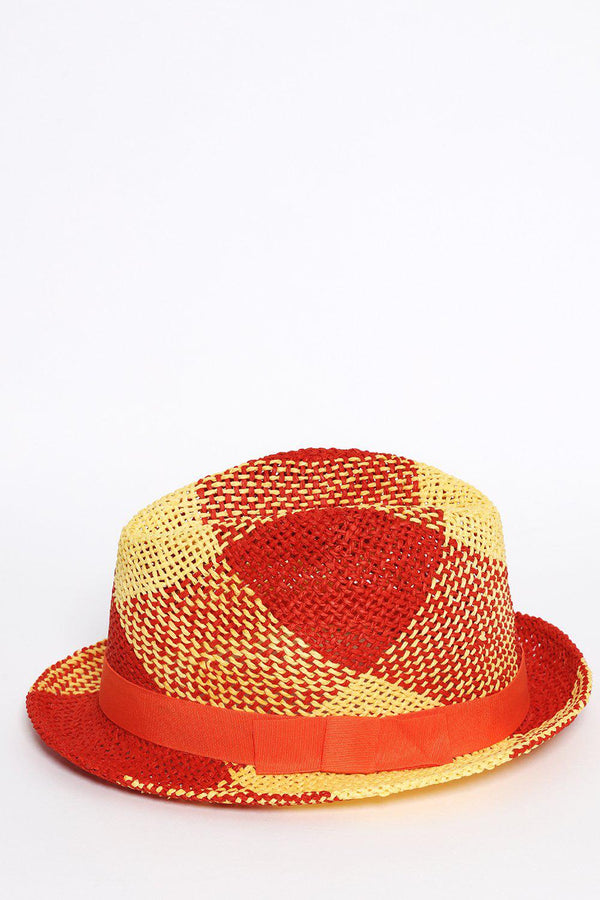 Orange and Yellow Beach Straw Hat - SinglePrice