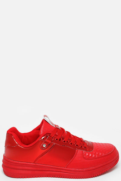 Red Patent Trainers-SinglePrice