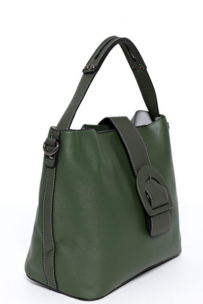 Green Pull Through Buckle Bag