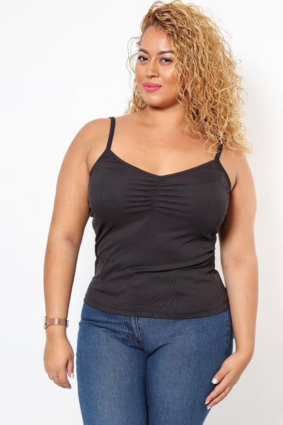 Black Ribbed Cami Top-SinglePrice