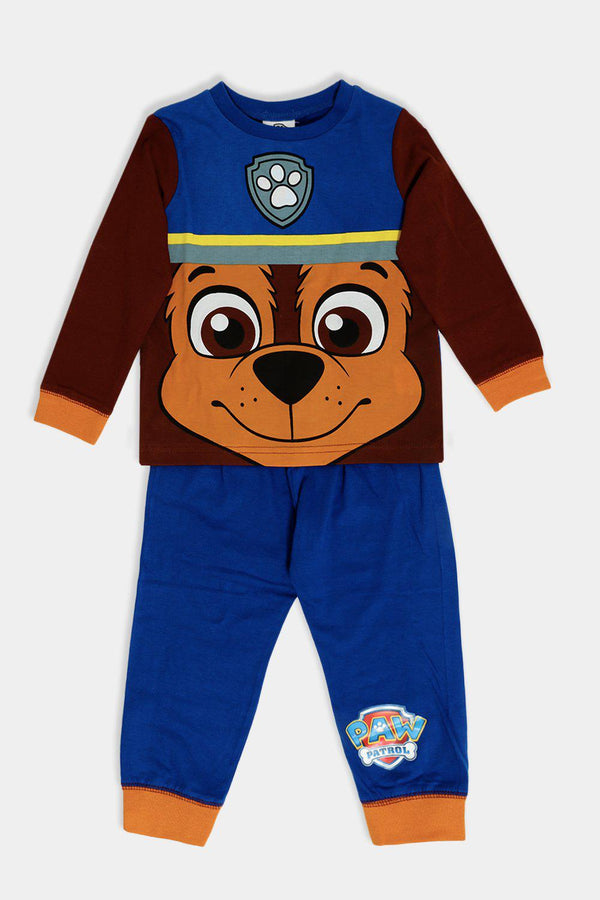 Blue Brown Cartoon Print Kids Set - SinglePrice