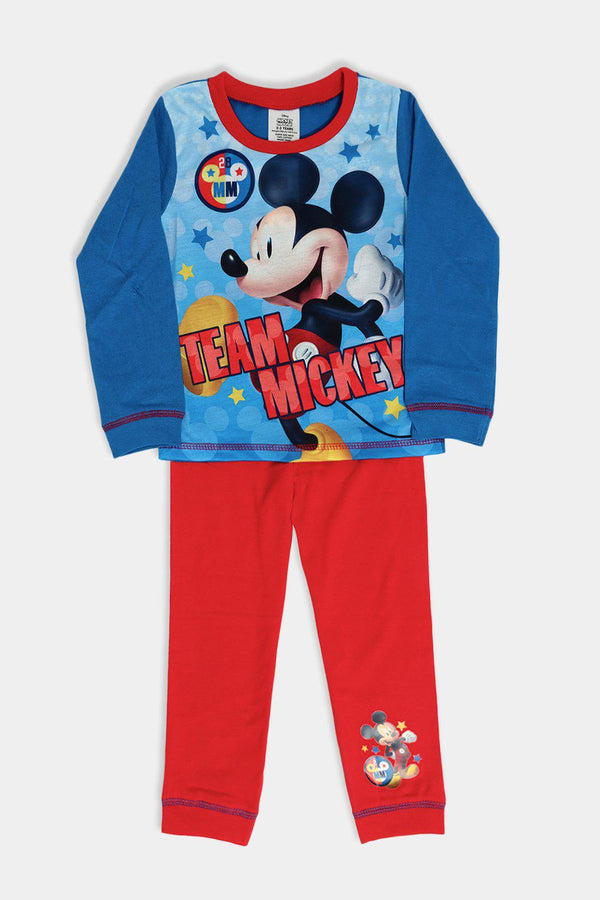 Blue Red Mouse Print Kids Set - SinglePrice