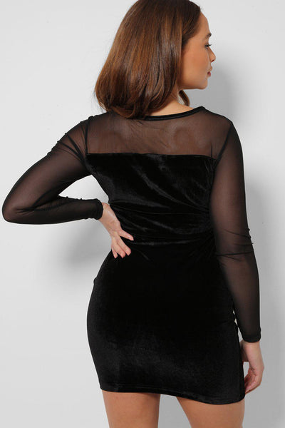 Silver Hardware Roll Up Sleeve Black Blouse-SinglePrice