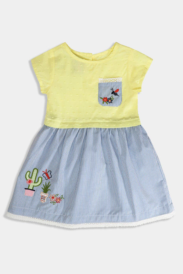 Flower Embroidered Baby Girl Dress - SinglePrice