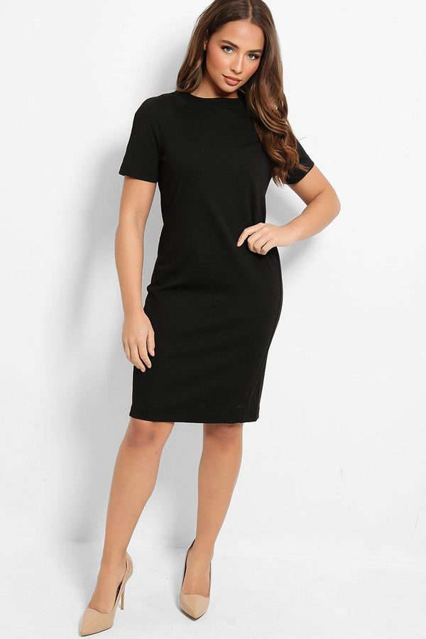 All Black Smart Midi Dress - SinglePrice