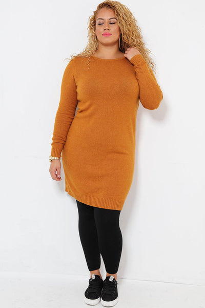 Super Soft Knit Mustard Knitted Dress