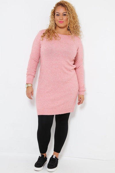 Super Soft Knit Blush Knitted Dress