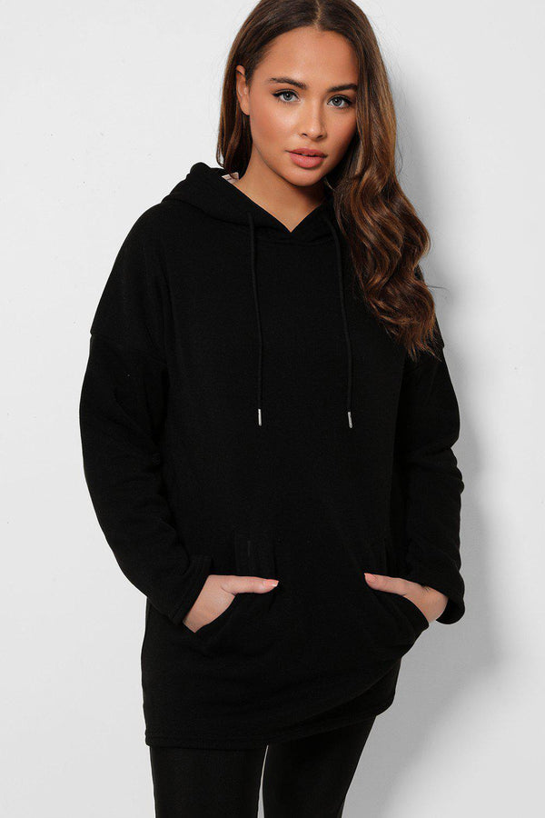 Black Super Soft Kangaroo Pocket Hoodie
