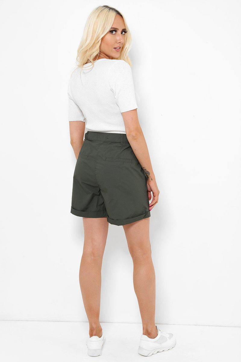 Roll Up Olive City Shorts - SinglePrice