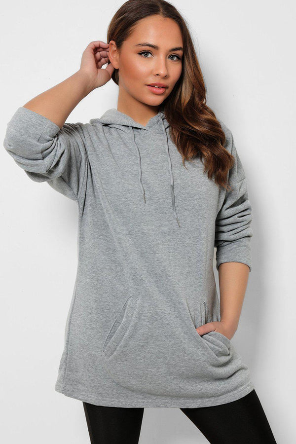 Grey Super Soft Kangaroo Pocket Hoodie