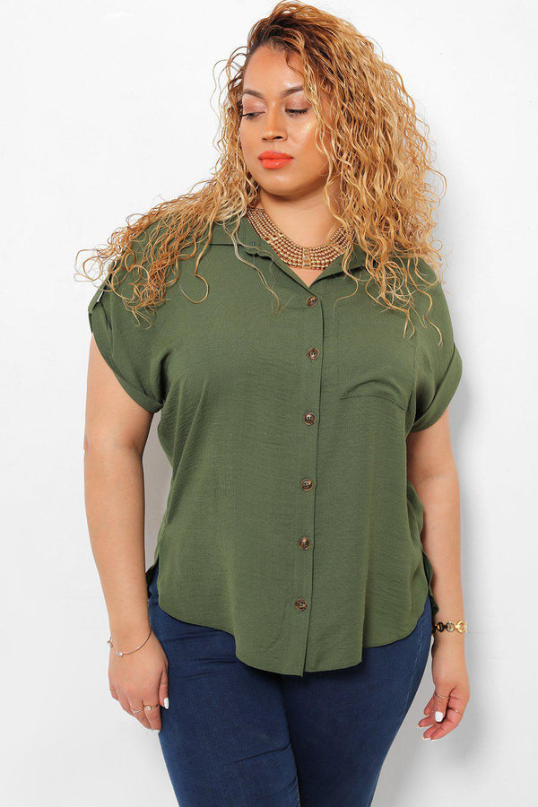 Short Sleeves Green Shirt-SinglePrice