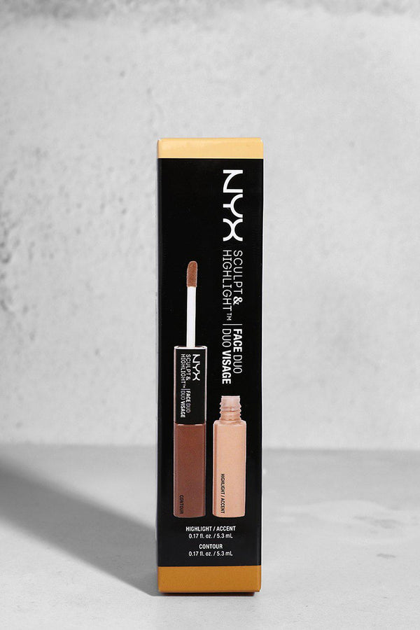 NYX Sculpt And Highlight Face Duo In 02 Almond/Light - SinglePrice