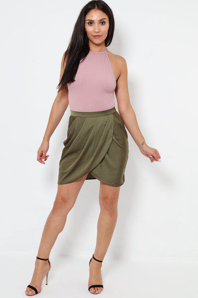 Layered Khaki Tulip Skirt-SinglePrice