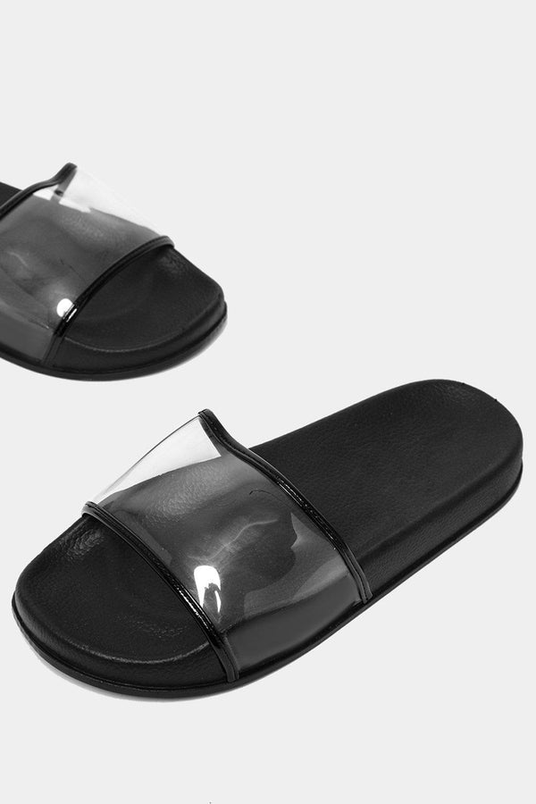 Black Transparent Perspex Sliders-SinglePrice