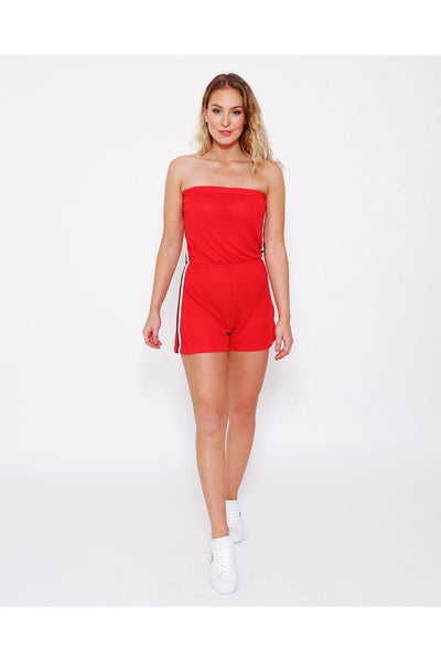 Red Bandeau Playsuit-SinglePrice
