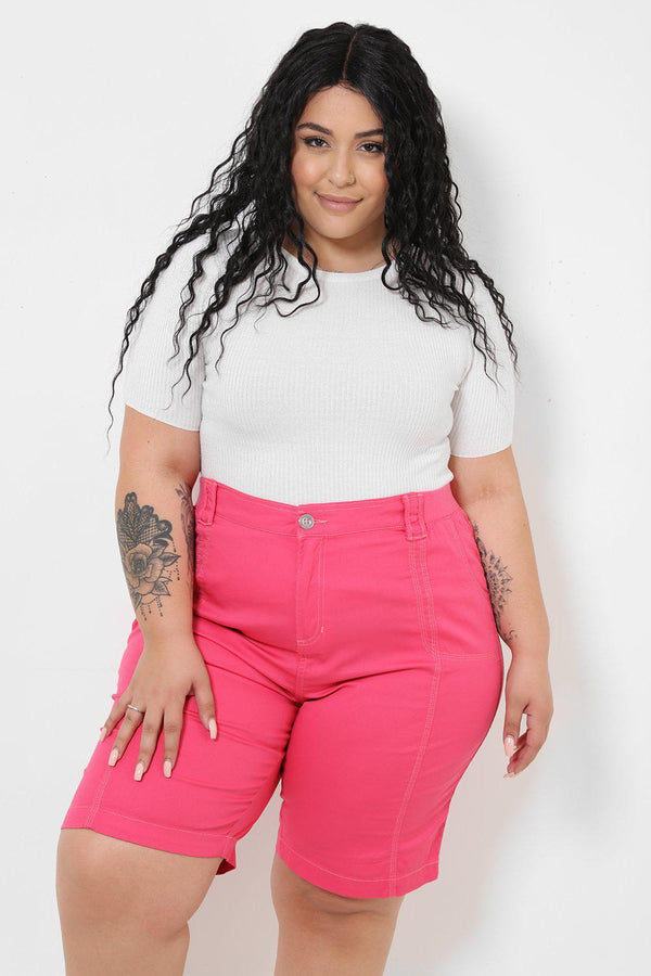 Elasticated Waist Pink City Shorts-SinglePrice