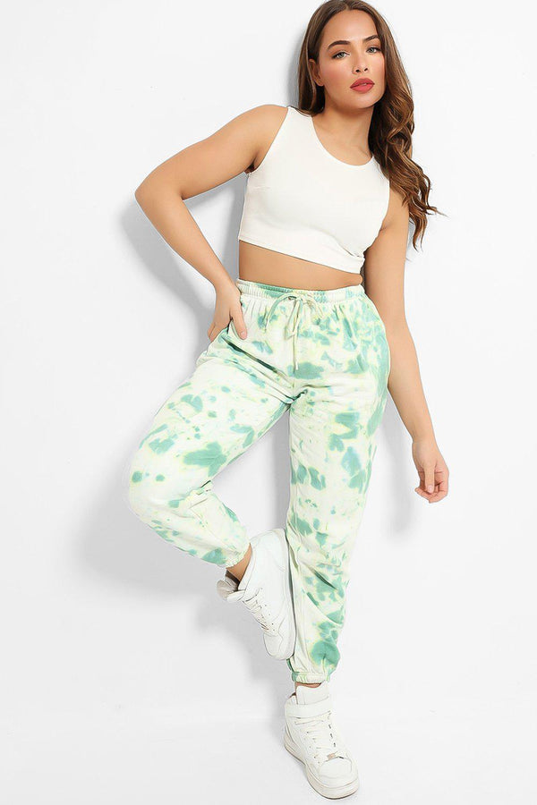 Turquoise Tie Dye Thick Joggers - SinglePrice