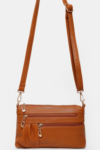 Small Zipper Brown Side Bag-SinglePrice