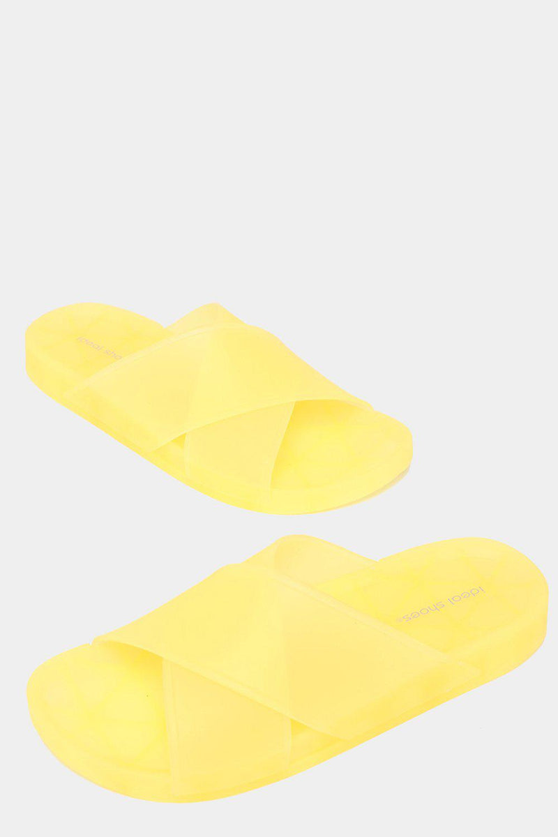 Yellow Transparent Jelly Sliders - SinglePrice