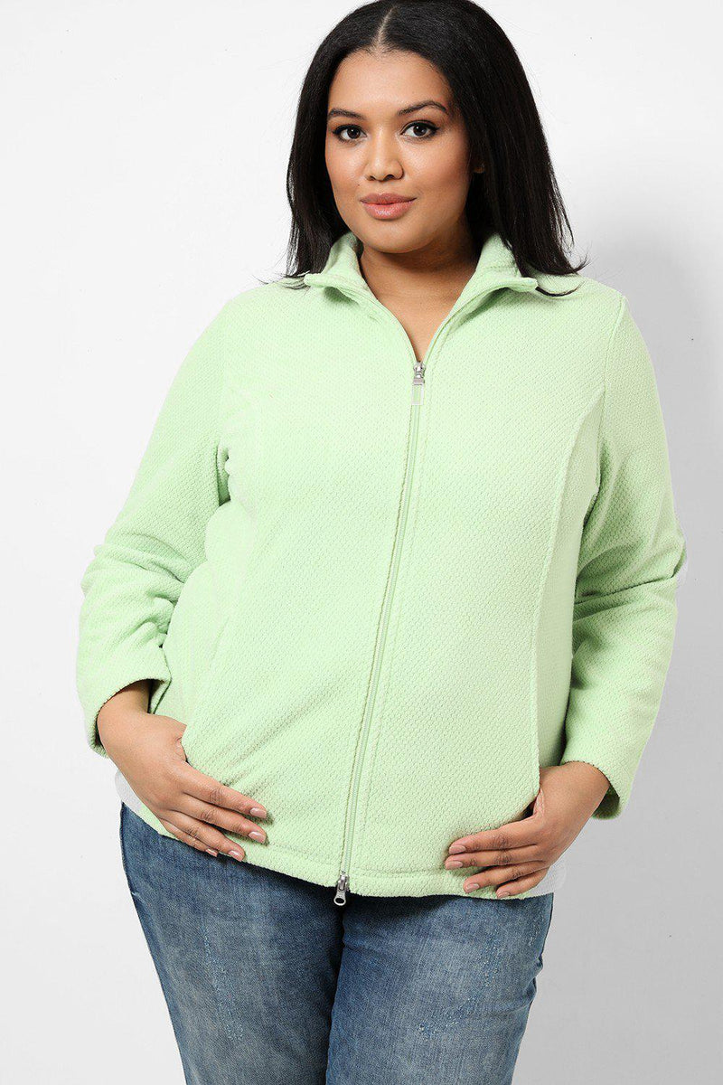 Lime Honeycomb Fleece Jacket - SinglePrice