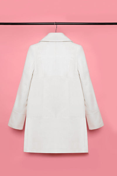 Large Buttons Off White Coat Jacket-SinglePrice