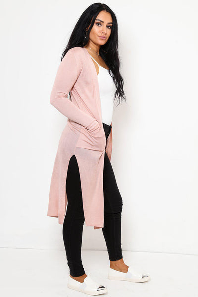 Open Front Thin Long Black Cardigan-SinglePrice