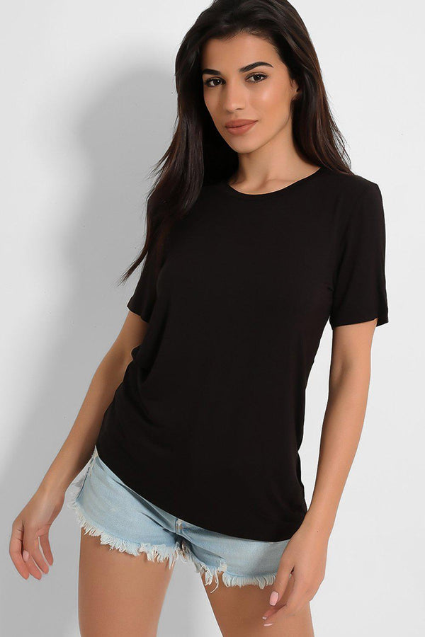 Absolute Black Slinky T-Shirt-SinglePrice