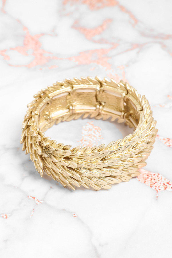 Gold Scales Stretch Bracelet-SinglePrice
