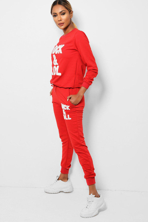 Red Rock And Roll 2 Piece Tracksuit - SinglePrice