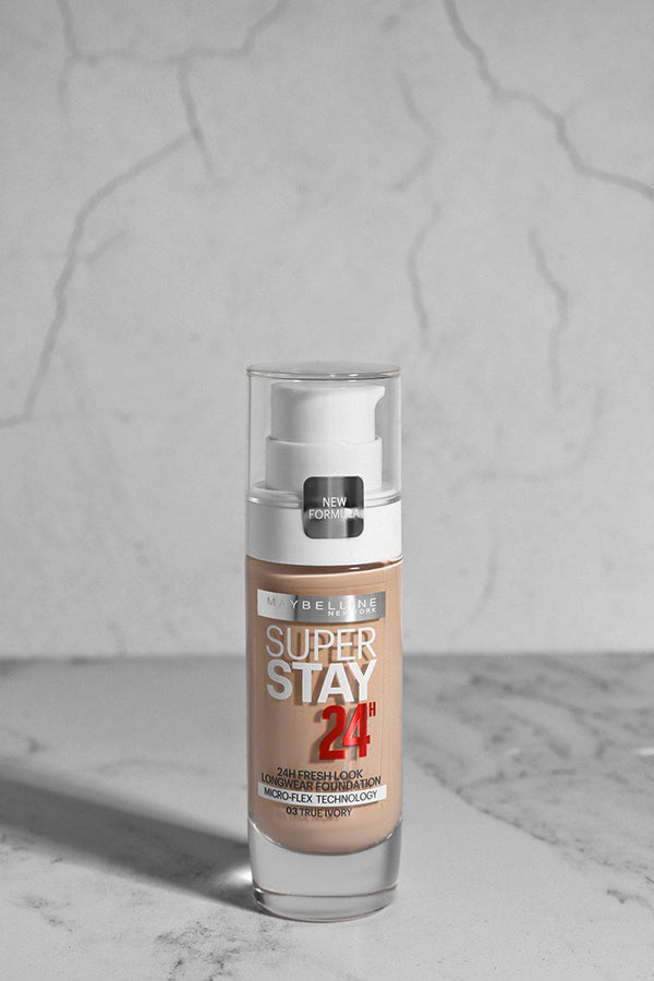 Maybelline 24 H Super Stay Foundation 03 True Ivory - SinglePrice