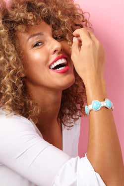 Blooming Turquoise Stretch Bracelet - SinglePrice