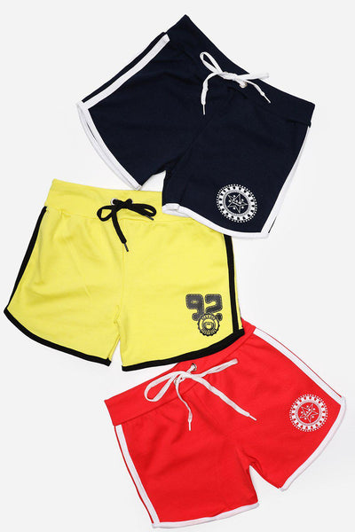 Pack Of 3 Red Yellow Navy Hotpants Set-SinglePrice