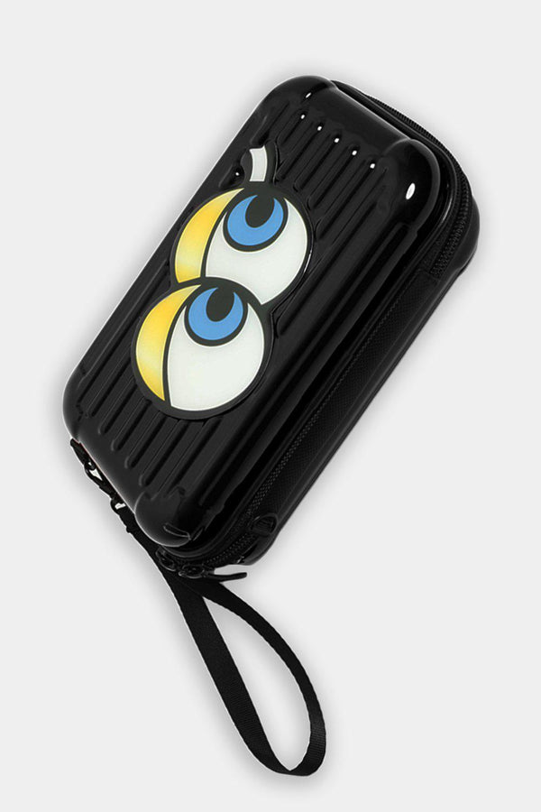 Black Emoji Mini Luggage Case Handbag - SinglePrice
