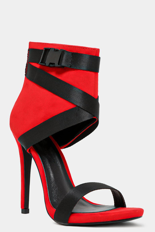 Safety Belt Red High Heels