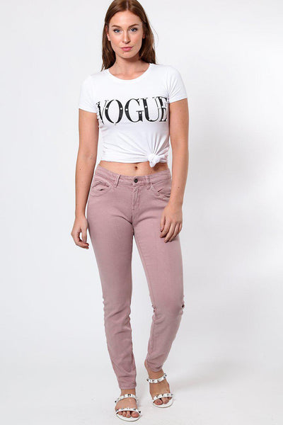 Dusty Pink Push-Up Jeans