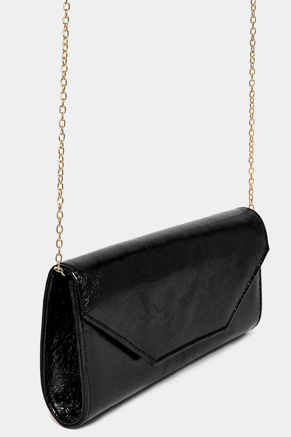 Metallic Finish Black Classic Clutch-SinglePrice