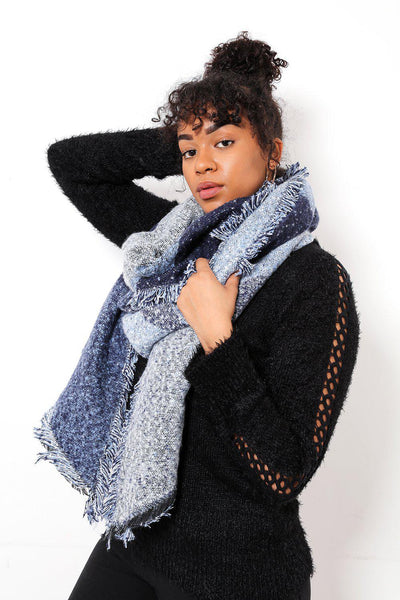 Super Soft Mixed Blues Chunky Scarf-SinglePrice