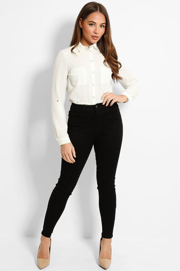 All Black Super Skinny Jeans - SinglePrice