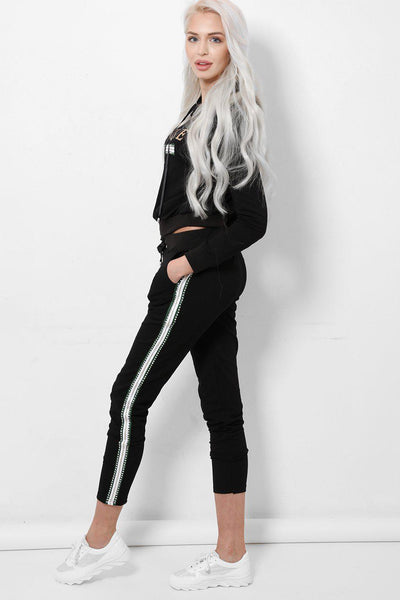 Unique Black 2 Piece Tracksuit-SinglePrice