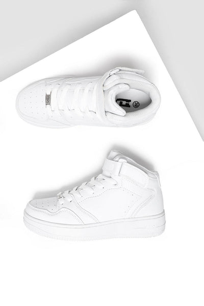 Velcro Strap Top White Trainers-SinglePrice