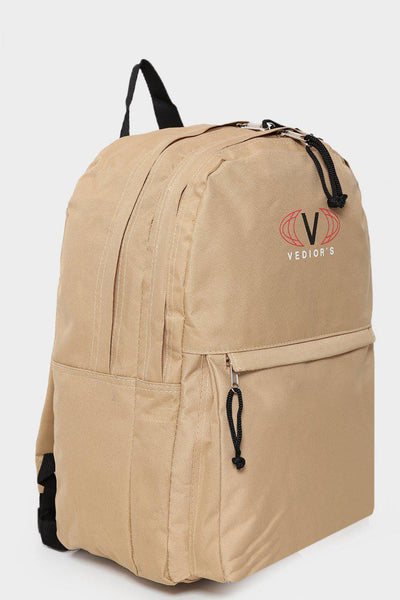 Beige Canvas Backpack-SinglePrice