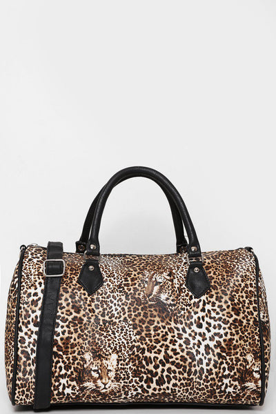 Medium Leopard Print Bowler Bag
