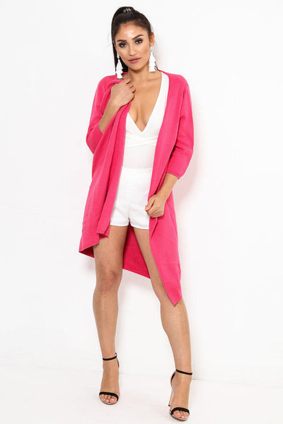 Thick Knit Open Front Rose Cardy-SinglePrice