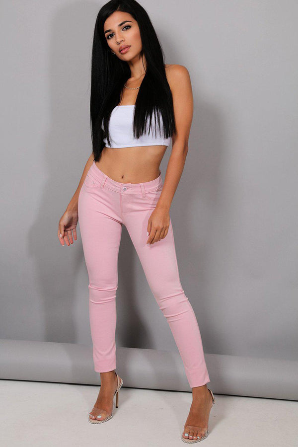 Baby Pink Super Soft Skinny Jeans - SinglePrice