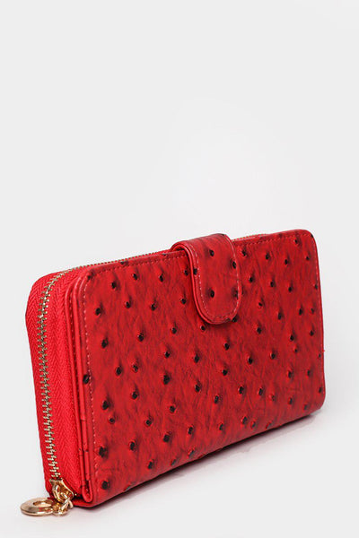 Ostrich Effect Red Wallet-SinglePrice