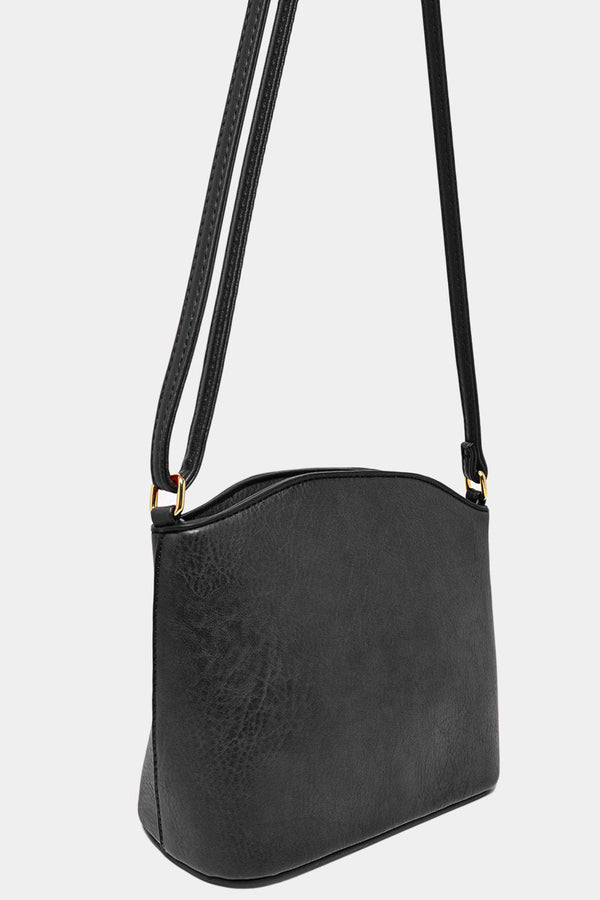 All Grey Vegan Leather Mini Shoulder Bag-SinglePrice