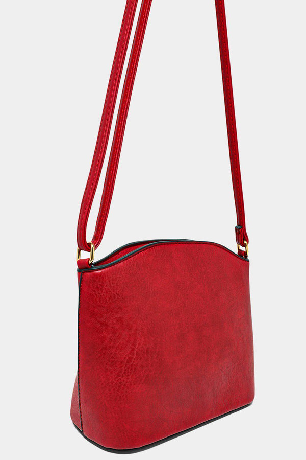 All Burgundy Vegan Leather Mini Shoulder Bag-SinglePrice