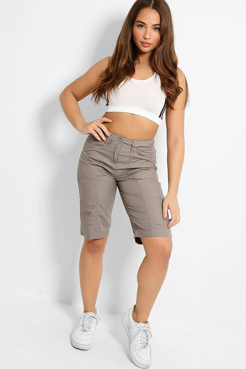 Grey City Midi Shorts - SinglePrice